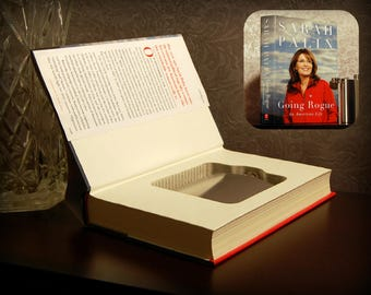 Hollow Book Safe & Flask (Sarah Palin: Going Rogue)