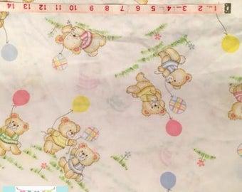 Vintage Baby Bear Crib Sheet