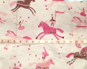Pink Princess Horses Pillowcase