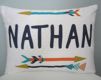 Tribal Feather Personalized Pillow