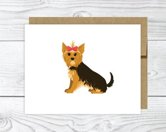 Set of Yorkshire Terrier Note Cards
