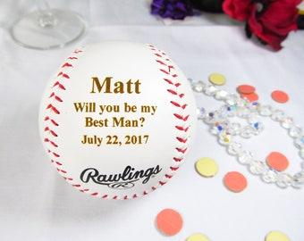 Custom Best Man Proposal Gifts Baseball, Will You Be My Best Man, Best Man Invitation, Baseball Theme Wedding, Groomsman Proposal Gift