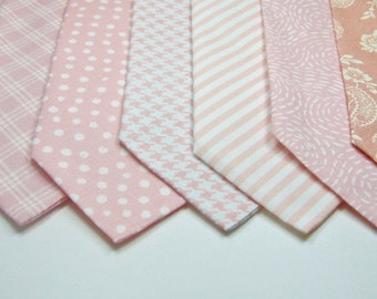 Blush Ties Blush Neckties Blush Wedding Mens Blush Ties Necktie Set Wedding Neckties Light Pink Neckties Mens Neckties Custom Neckties