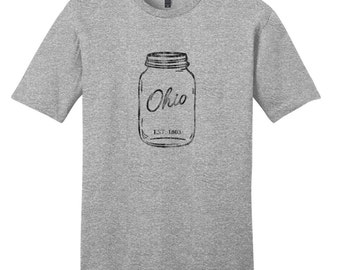 Ohio Mason Jar - Ohio T-Shirt