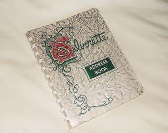 Vintage 1954 Silverette Address Book