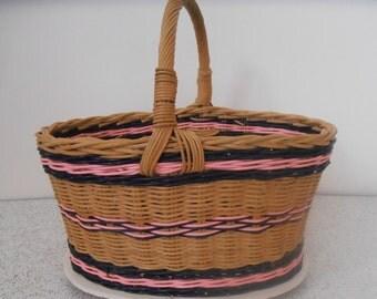 vintage cane basket