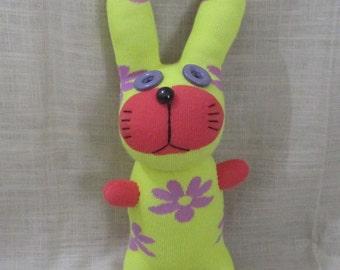 Clearance Handmade Yellow Sock Rabbit Bunny Stuffed Animal Doll Baby Toys