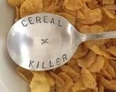 Cereal Killer Soup Spoon Stamped Skull
