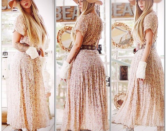Med Vintage grunge maxi dress, Boho music festival retro dress, Bohemian gypsy, Music festival clothing, Boho dresses, True rebel clothing