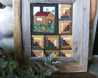 Cabin in the Woods Quilt Framed In Rustic Barn Wood  (Items #141, #142)