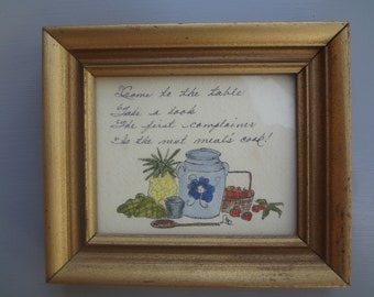 Vintage Handpainted Kitchen Plaque
