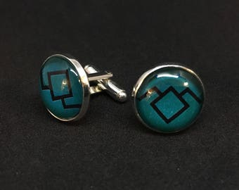 Owl Cave Glass Cuff Links