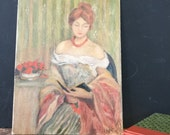 Vintage Lady Portrait Oil Painting