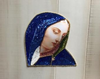 Sequin Frida Milagro Sacred Heart Patch Mini Angel Art