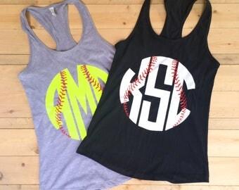 Baseball tank top - women's Baseball tank - Baseball Racerback - baseball shirt  - Softball Tank - baseball mom
