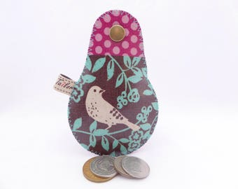 The Mini Gypsy Change Purse -Vegan Edition- Printed Vinyl / Vegan Coin Purse / Ready to Ship
