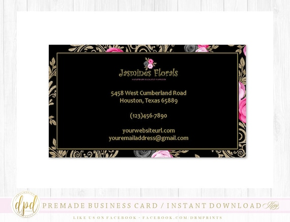 Custom Premade Blank DIY Single Sided Business Card | Business Template | Business Branding | Business Graphics | INSTANT DOWNLOAD-AS798