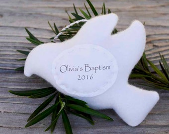 Personalized Dove Baptism Ornament, Baby's First Christmas Personalized Dove Ornament, Personalized Christmas Ornament, Custom Ornament