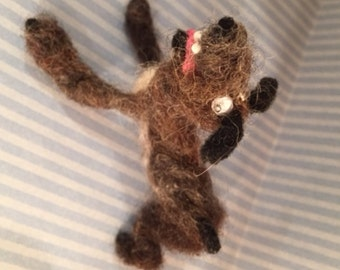 Riley felted wool dog puppy