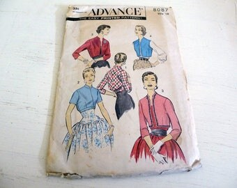 Advance 8087 Vintage Bolero and Spencer Pattern size 18