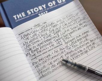 The Story of Us, Gratitude Journal, daily gratitude, Daily memory journal, daily organizer, weekly schedule, gratitude journaling,
