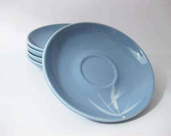 Winfield Blue Pacific China Saucers (5) Bamboo Pattern