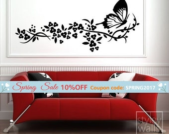 Butterfly Wall Decal | Etsy