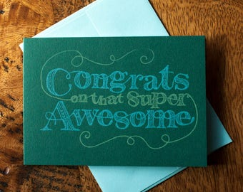 Congrats on That Awesome - Card