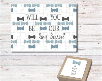 Will You Be Our Ring Bearer Puzzle, Ring Bearer Gift, Puzzle for Ringbearer, Creative Way To Ask Ringbearer, Be Our Ringbearer, Card