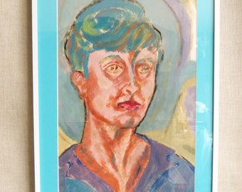 Female Portrait Painting, Nancy Wickham, Atlanta Artist, Oil on Paper, Original Art, Fine Art, Colorful, Paintings of Women, Portraiture