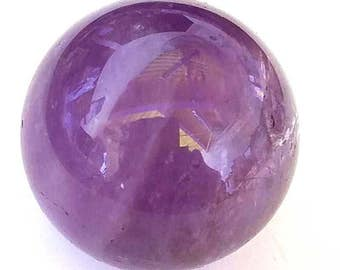 Amethyst Sphere, 40mm, Metaphysical Crafts, Jewelry Making