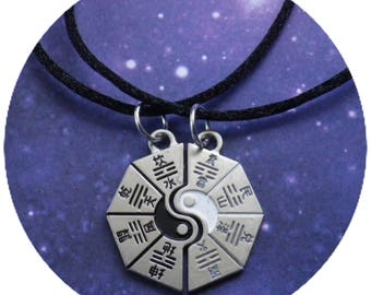 SALE Yin Yang I Ching Soul Mate necklaces