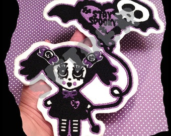 Back Patch Giant Scary Cupcake Stay Spooky Embroidered Patch Large Embroidery Spooky Cutie Bat Balloon with Skull Patches Iron on