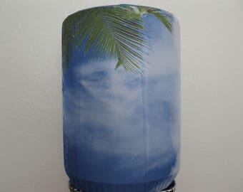 Cool Summer Sky-White and Blue Home Decor Bottle Cover-5 Gallon Bottle Standard Size