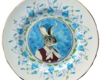 "Jackie the Jackalope Portrait Plate 6"""