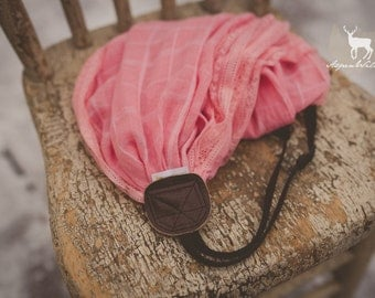 Pink with Lace Edge Scarf Camera Strap