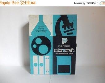 Vintage 1960's Metal Porter Science Microcraft Microscope Lab Box