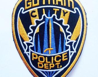"BATMAN Gotham city police dept sew iron on Patch Badge 4.5"""