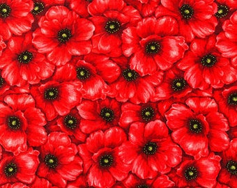 Ironing Board Cover Custom Designer ironing board cover made with Red Packed Poppies fabric, select the size