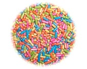 Summer Pearlized Shimmer Jimmies 2oz.Edible Sprinkles  Cookie, Cake,Cakepops, Cupcake, Confetti Decorations