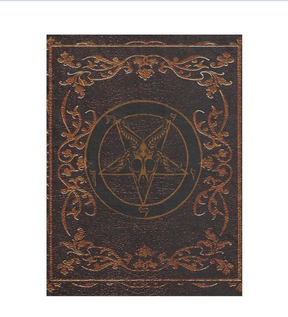 Baphomet Grimoire fleece throw blanket