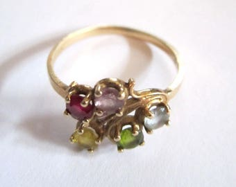 Vintage 10k Gold Ring - Size 8