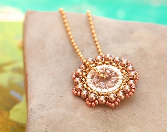 Bloom Necklace in Soft Tones and Gold