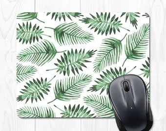 Mouse Pad Leaves Mousepad Cubicle Accessories Office Supplies Green Tropical Office Desk Accessories Office Decor Gifts for Coworker