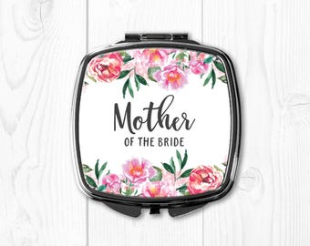 Personalized Mother of the Bride Gift from Bride Compact Mirror Mother of the Bride Wedding Gift for Mom Wedding Gift Ideas Pink Coral