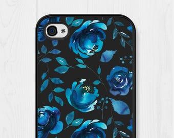iPhone 6 Case Floral iPhone 7 Case Blue Floral Phone Case iPhone 6 Plus Case iPhone 6s Case Floral iPhone SE Case Floral iPhone 5 Case