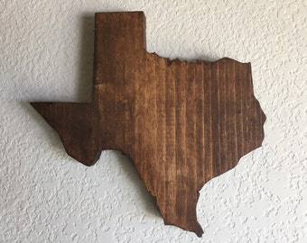 Texas Wood Sign - State Wall Decor