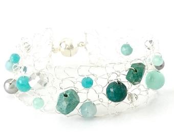 dainty bracelet skinny cuff bracelet beaded bracelets gemstone bracelet romantic gift jewelry for wife gift ideas for girlfriend summer
