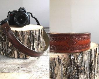 Leather Camera Strap //  Vintage Camera Strap  //  THE CAMDEN