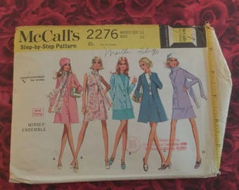 1970's Vintage Coat and Dress Sewing Pattern